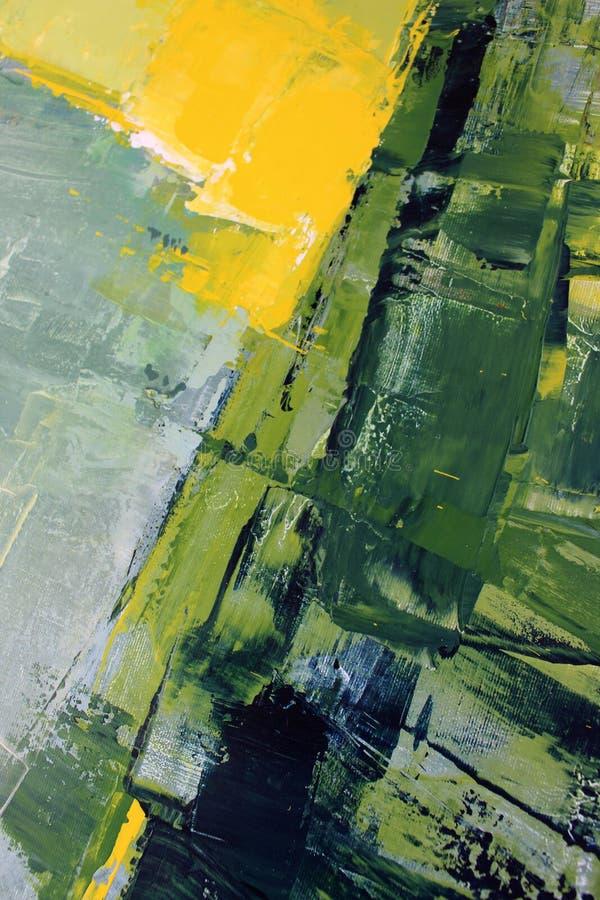 Våren målar färger på kanfas flod för målning för skogliggandeolja abstrakt konstbakgrund Oljemålning på kanfas Färgtextur Fragme vektor illustrationer