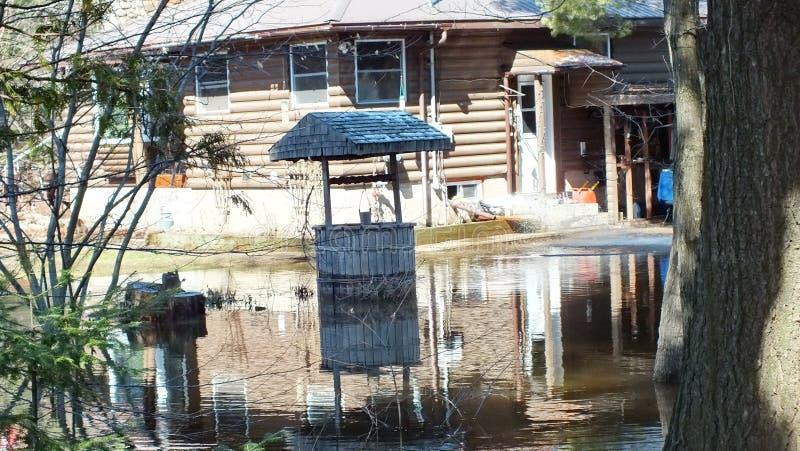 Vårflod i Huntsville, Ontario, 2013 royaltyfria foton