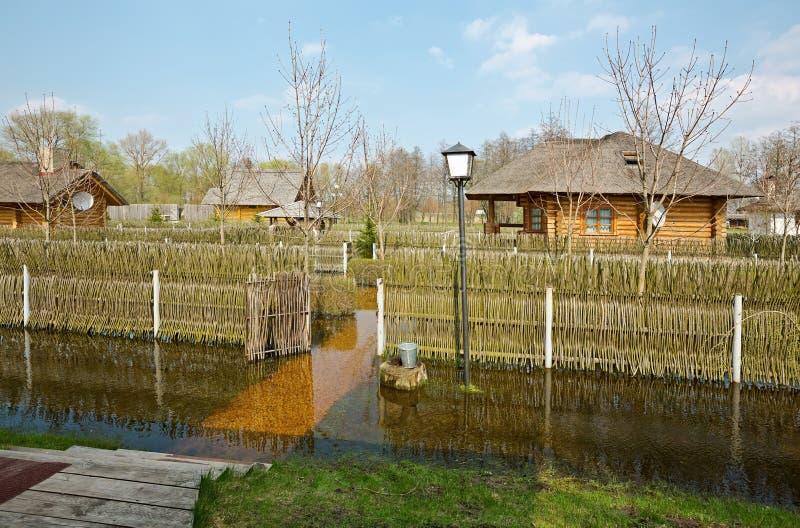 Vårflod, Vitryssland arkivfoton