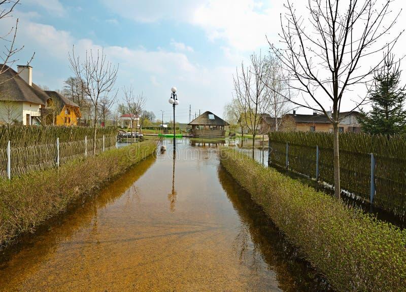 Vårflod, Vitryssland arkivfoto