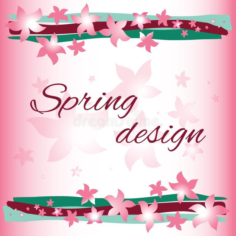 Vårkortdesign vektor illustrationer