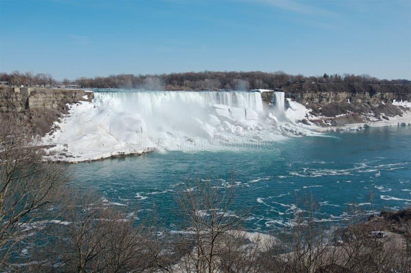 Vårsikt av Niagaraet Falls royaltyfria bilder