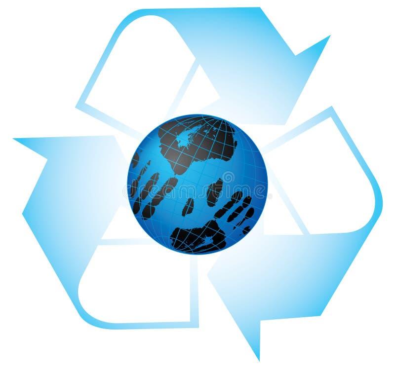 vårt planet sparar stock illustrationer