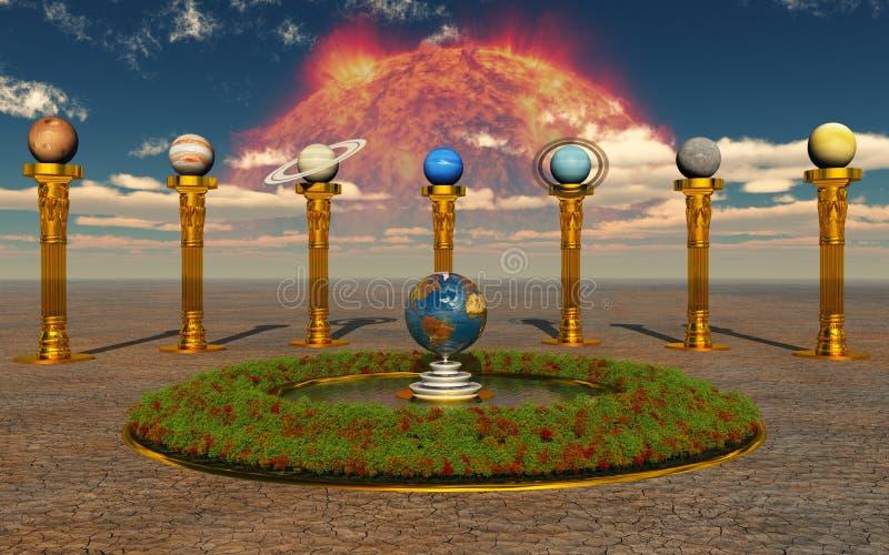 vårt sol- system royaltyfri fotografi