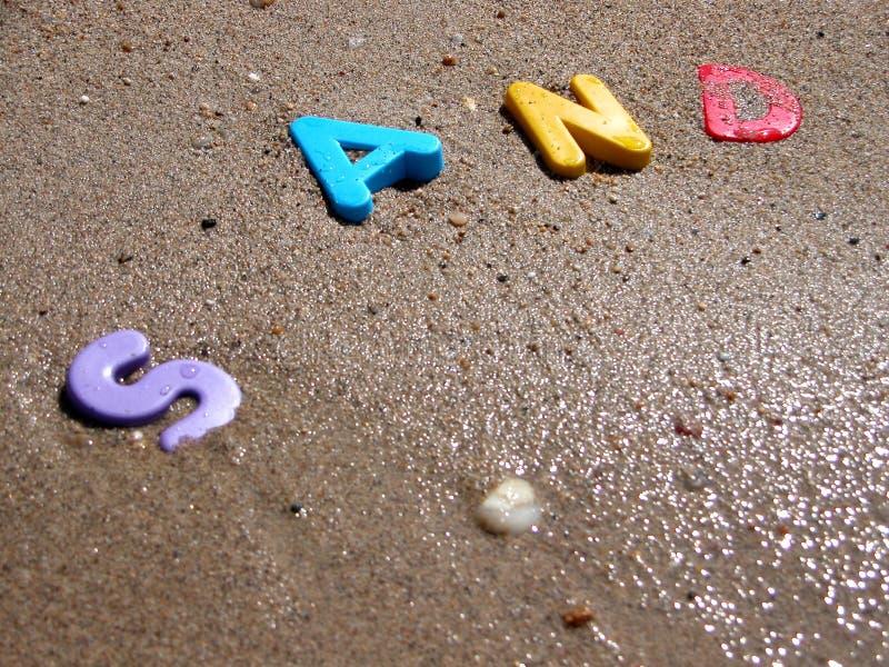 Våt Sand 2 Arkivfoto