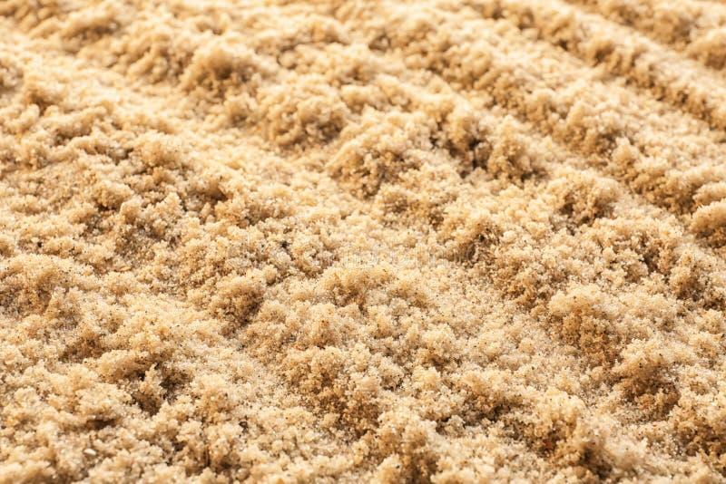Våt sand med modellen, closeup arkivfoton