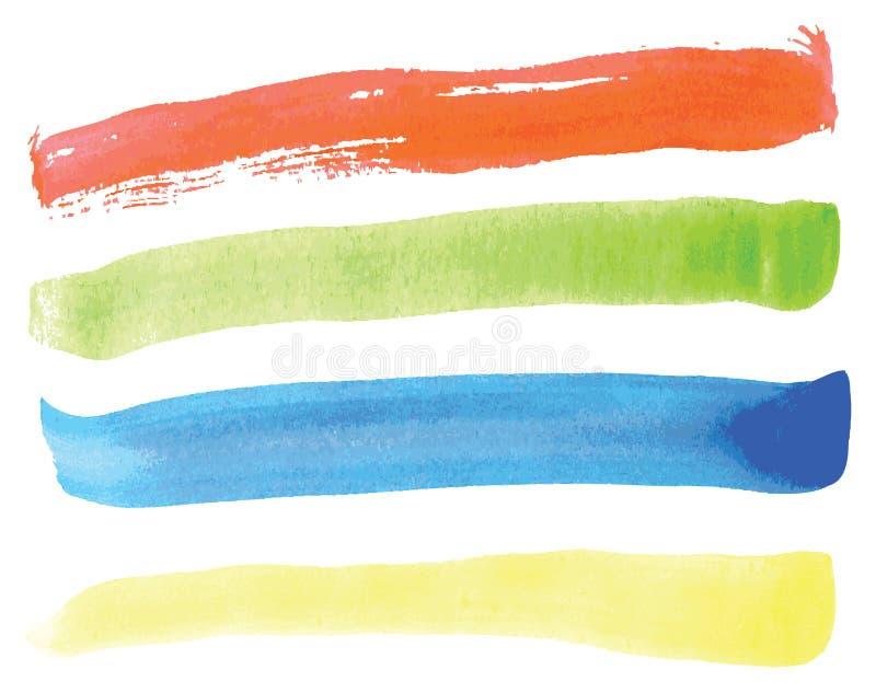 Våt vattenfärgtextur i vektorn eps10 royaltyfri illustrationer