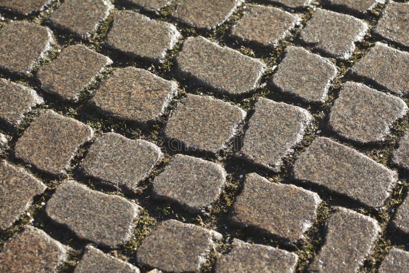 Våta blänka förberedande stenar arkivfoton
