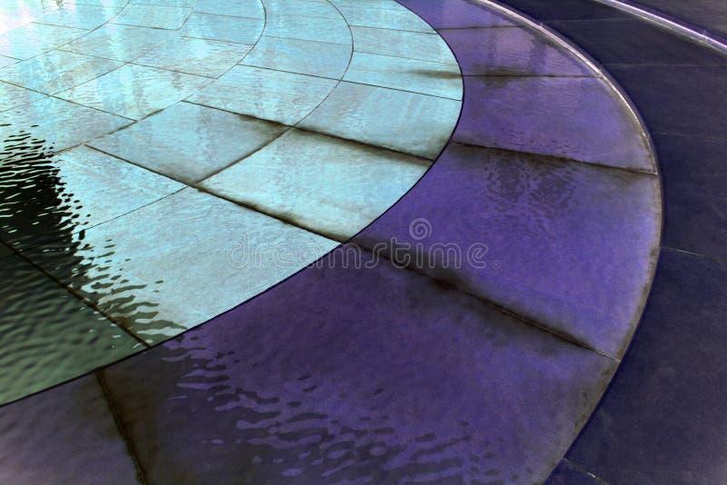 Våta keramiska tegelplattor royaltyfri bild