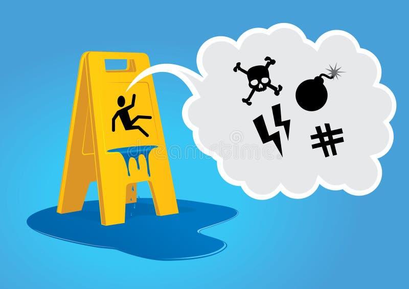 vått varningsgolv stock illustrationer