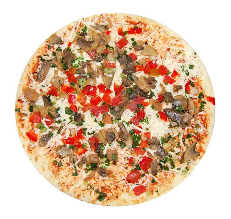 végétarien non préparé de pizza photographie stock libre de droits