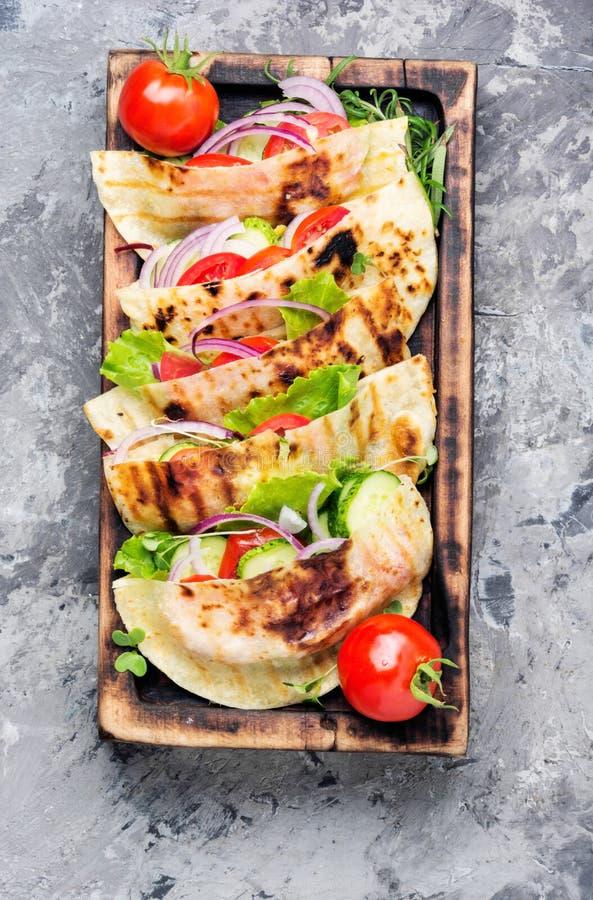 Végétarien Pita Sandwich image libre de droits