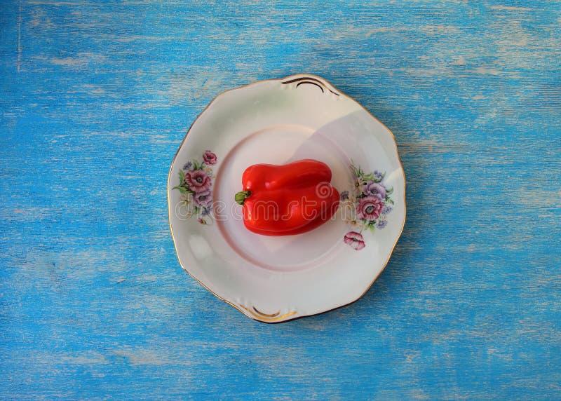 Végétarisme doux de poivron rouge photo stock