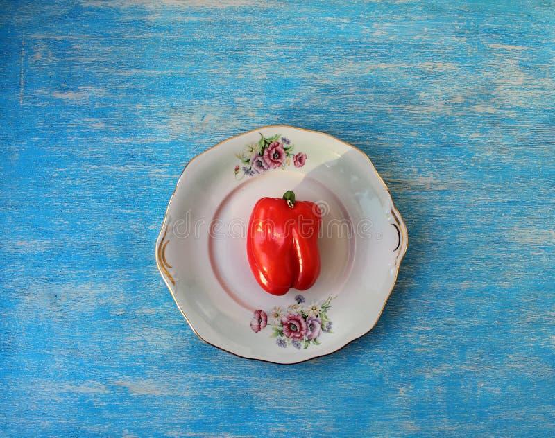 Végétarisme doux de poivron rouge image stock
