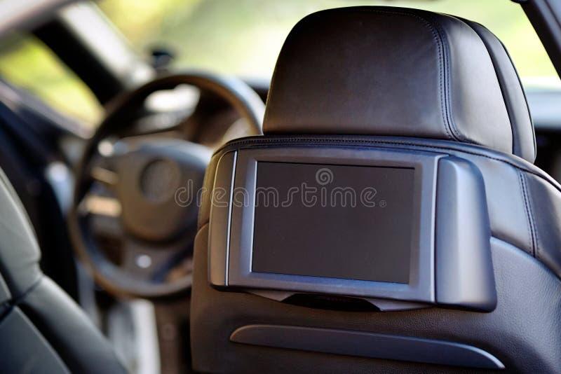 Véhicule à l'intérieur Intérieur de voiture moderne de luxe de prestige Affichage pour photos stock