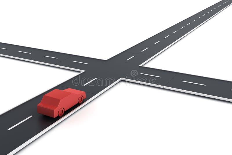 Véhicule à l'intersection illustration de vecteur