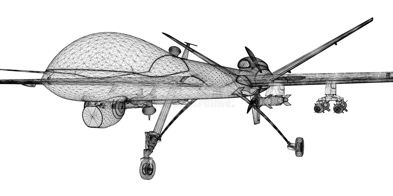 Véhicule aérien téléguidé (UAV) illustration stock