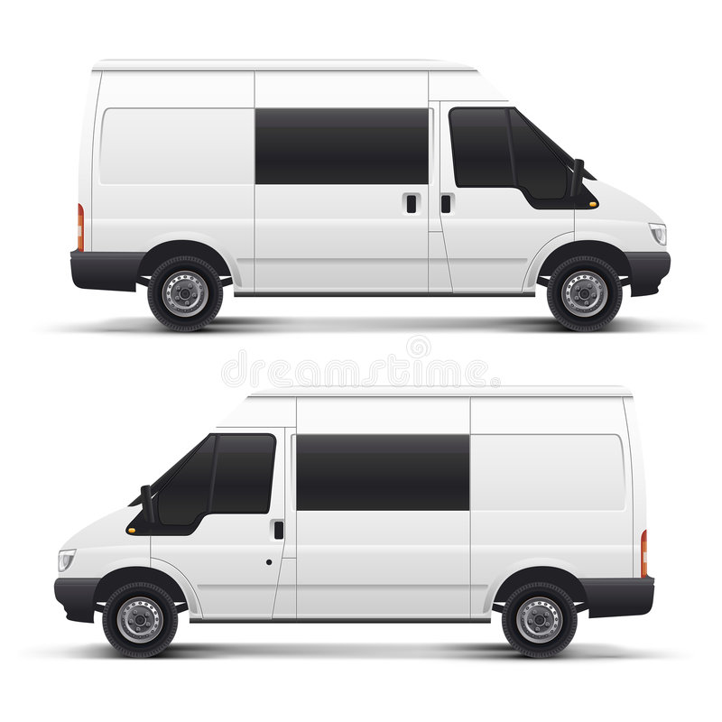 Véhicule automatique blanc de vecteur illustration stock