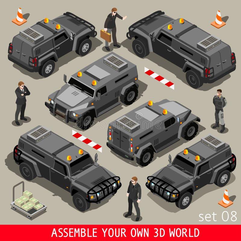 Véhicule 01 blindé isométrique illustration stock