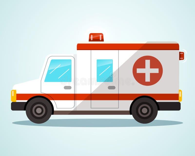Véhicule d'ambulance Illustration plate de conception illustration libre de droits