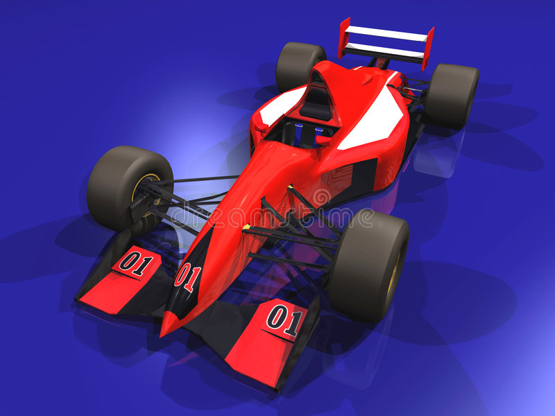 Véhicule d'emballage F1 rouge vol. 1 illustration de vecteur