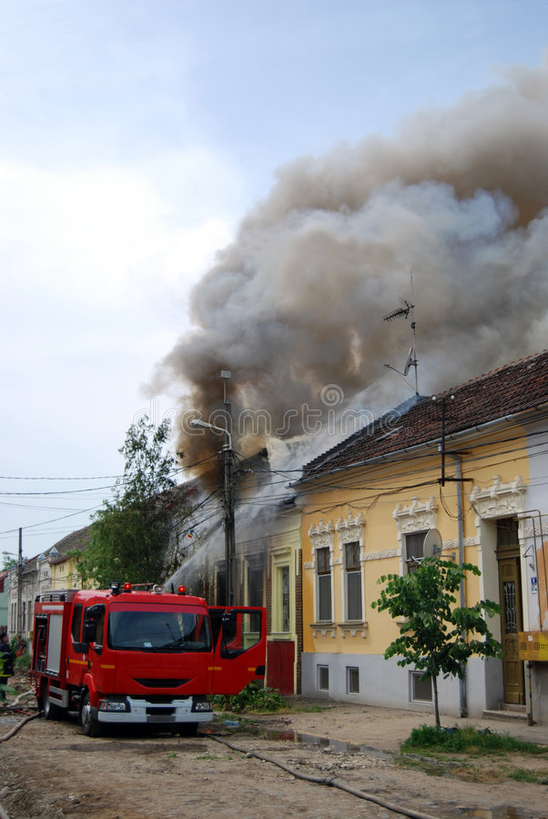 Véhicule d'incendie image libre de droits