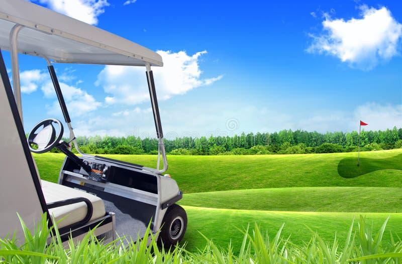 Véhicule de caddie de golf photographie stock