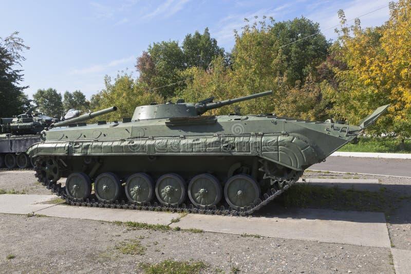 Véhicule de combat d'infanterie BMP-1 dans le parc de la Victoire de la ville de Vologda photo libre de droits