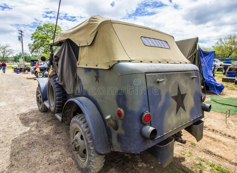 Véhicule de commande de camouflage de la deuxième guerre mondiale images libres de droits