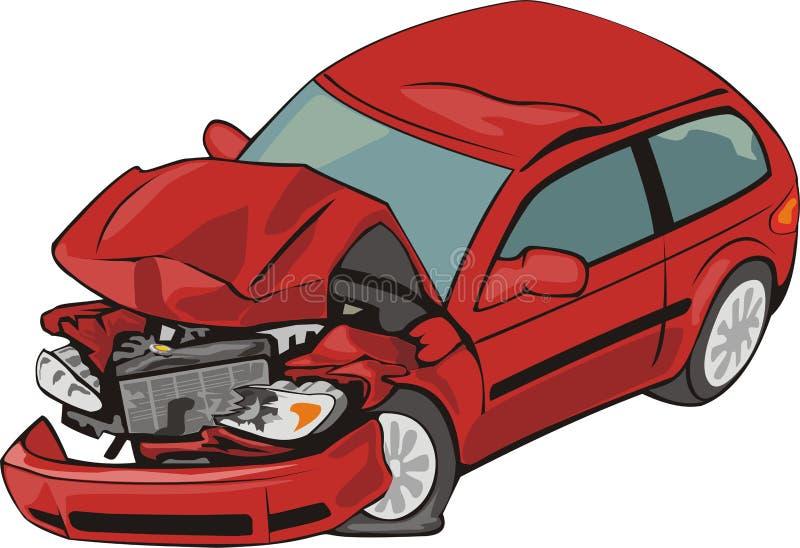 Véhicule de crash illustration de vecteur