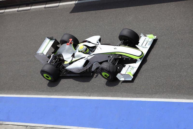 Véhicule de Formule 1 dans l'action photos stock