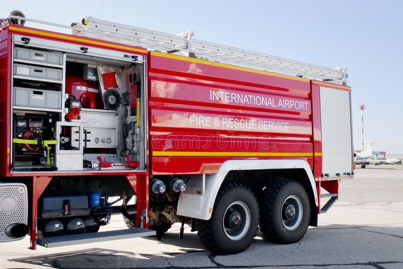 Véhicule de lutte contre l'incendie photo stock