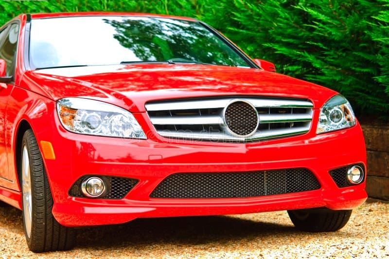 Véhicule de luxe rouge photos libres de droits
