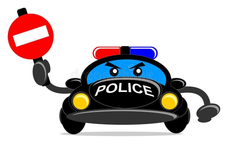 Véhicule de police illustration de vecteur