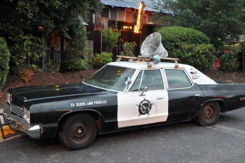 Véhicule de police de cru image stock