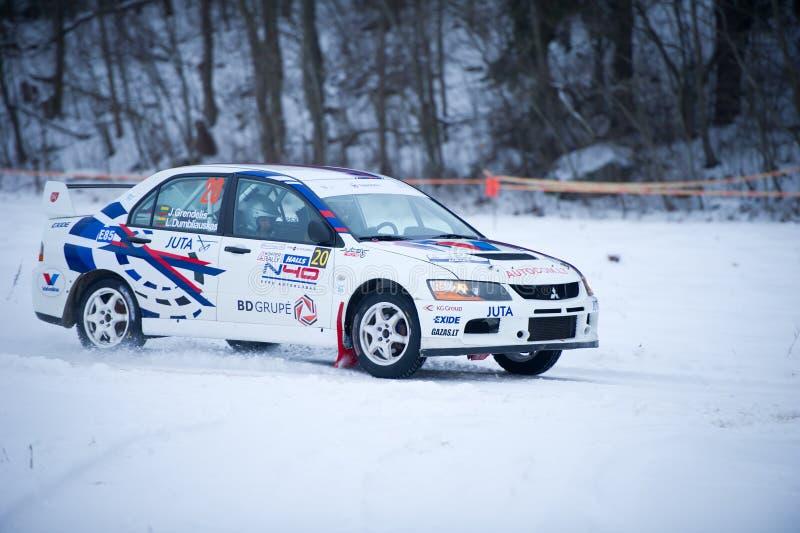 Véhicule de rassemblement de Mitsubishi Lancer Evo IX photos stock