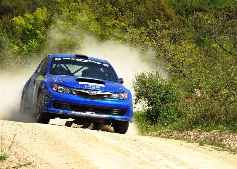 Véhicule de rassemblement de Subaru Impreza photos stock
