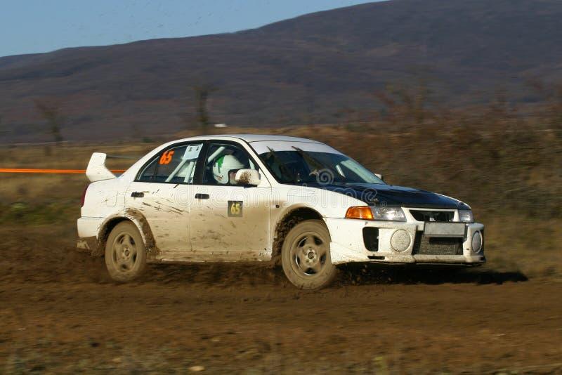 Véhicule de rassemblement - Mitsubishi EVO VI images libres de droits