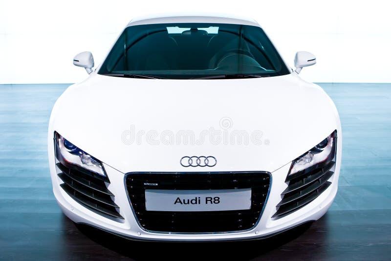 Véhicule de sport blanc Audi R8 photo libre de droits