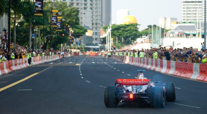 Véhicule de Vodafone McLaren Mercedes F1 ; Mika Hakkinen images libres de droits