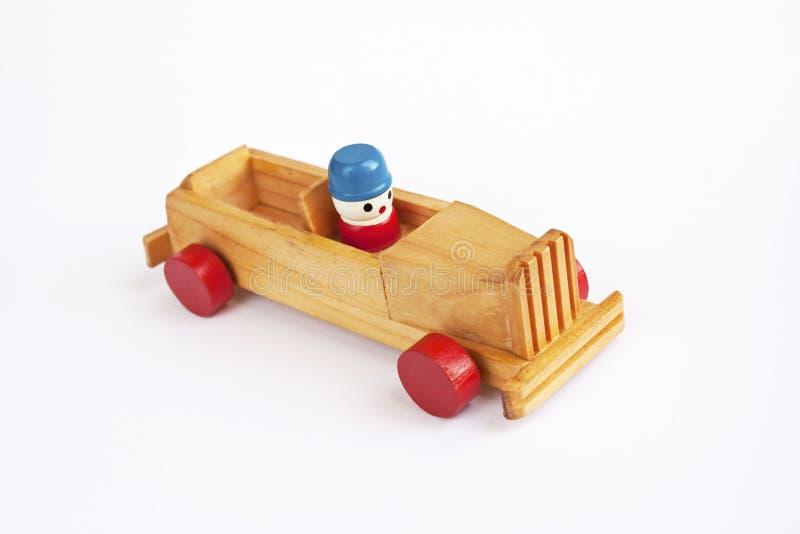 Véhicule en bois de jouet photo libre de droits