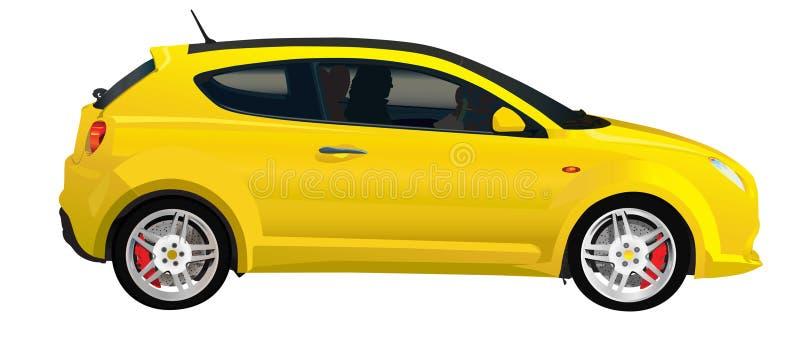 Véhicule italien jaune illustration libre de droits