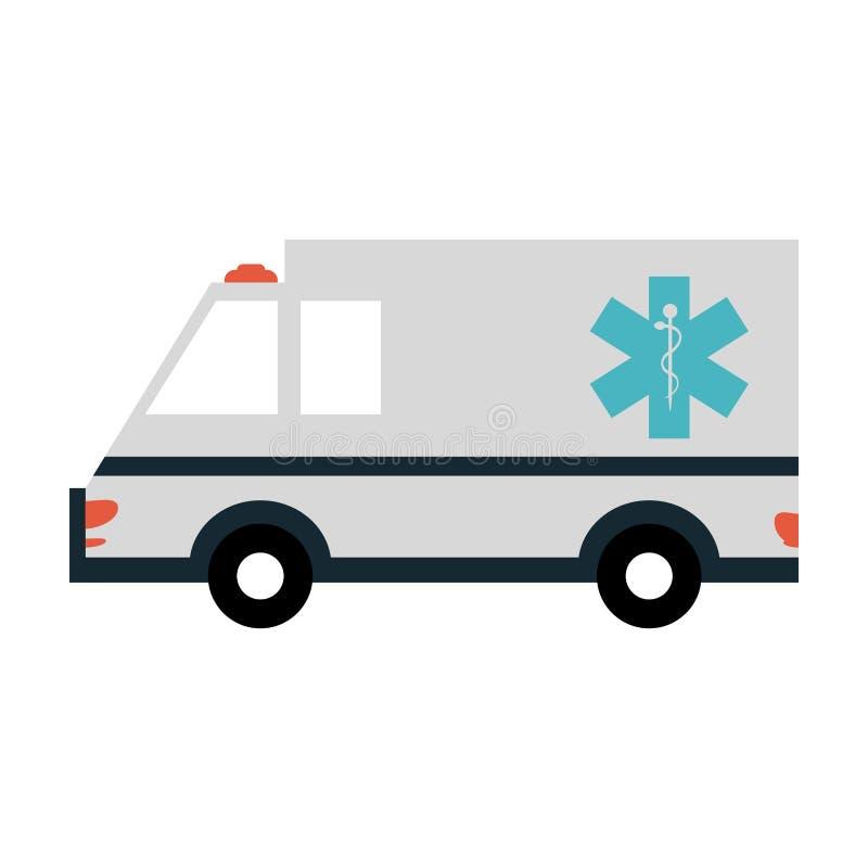 Véhicule médical d'ambulance illustration stock