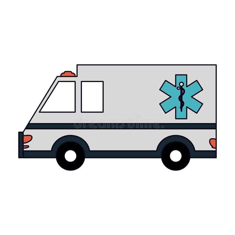 Véhicule médical d'ambulance illustration de vecteur