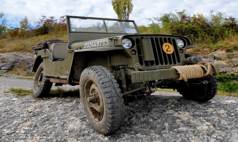 Véhicule militaire américain de jeep de wwii image libre de droits