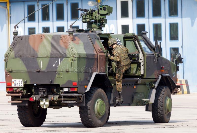Véhicule militaire blindé allemand de mobilité d'infanterie, dingo d'ATF images stock