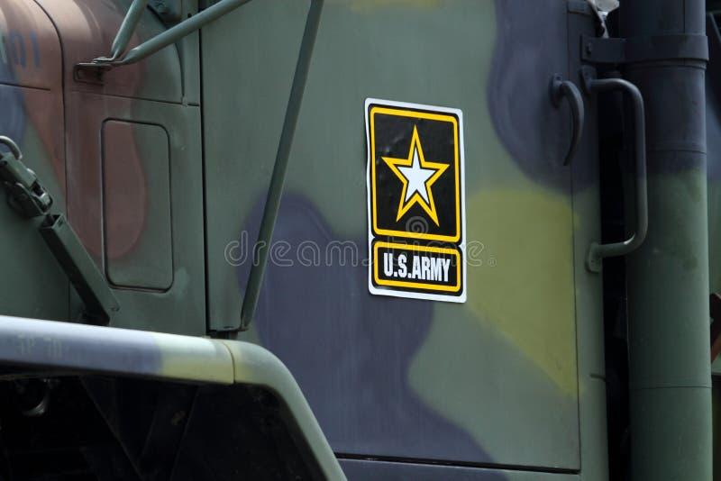 Véhicule militaire d'armée d'Etats-Unis images libres de droits