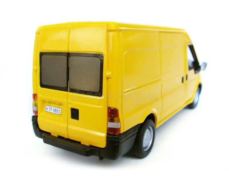 Véhicule modèle jaune - Van. Passe-temps, ramassage photo libre de droits