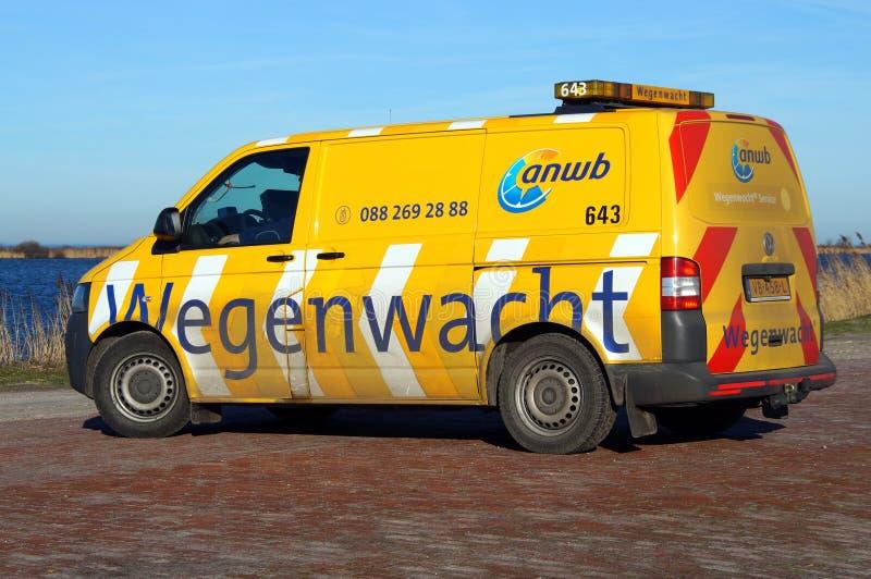 Véhicule néerlandais d'aide de bord de la route - ANWB Wegenwacht photo libre de droits