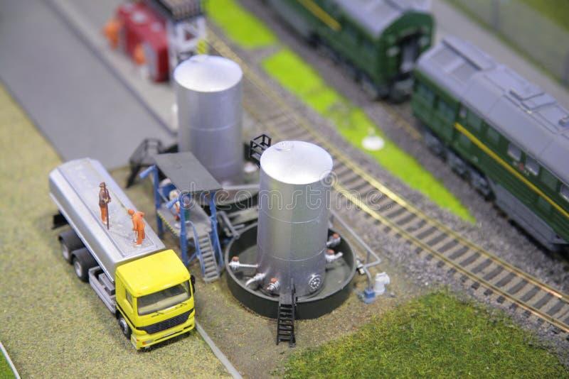 Véhicule, réservoir, chemin de fer, miniature photos stock